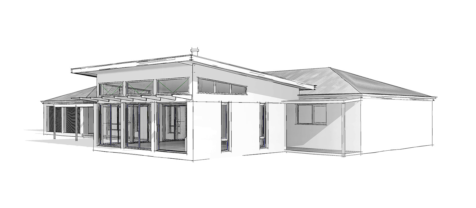 solar passive design for a living room extension Bendigo