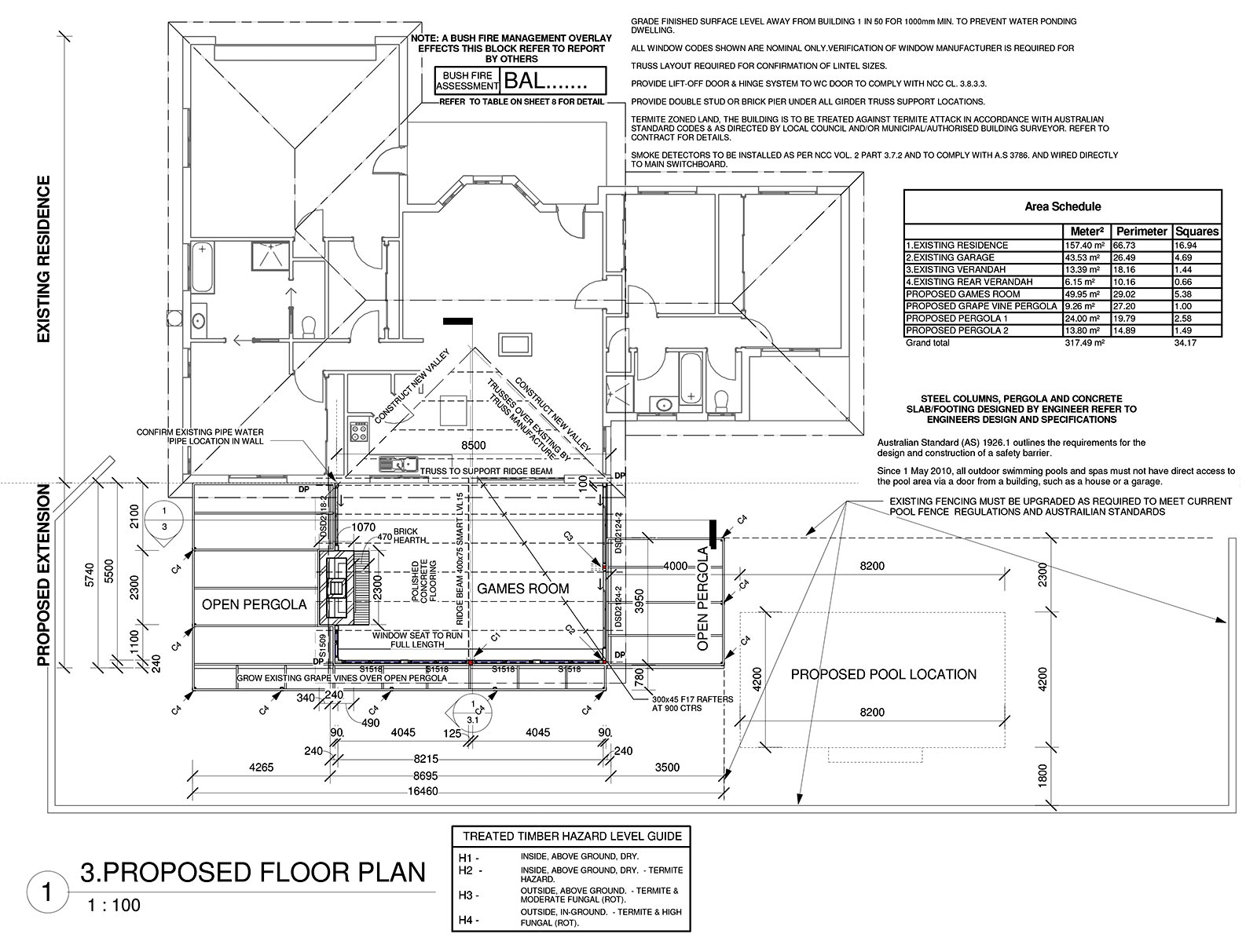 Detailed plans for a new house extension